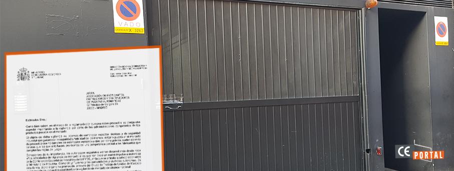 El Ministerio incrementa las inspecciones en puertas de garaje, comerciales e industriales