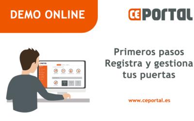 Demo CEportal: Primeros pasos para registrar y gestionar puertas